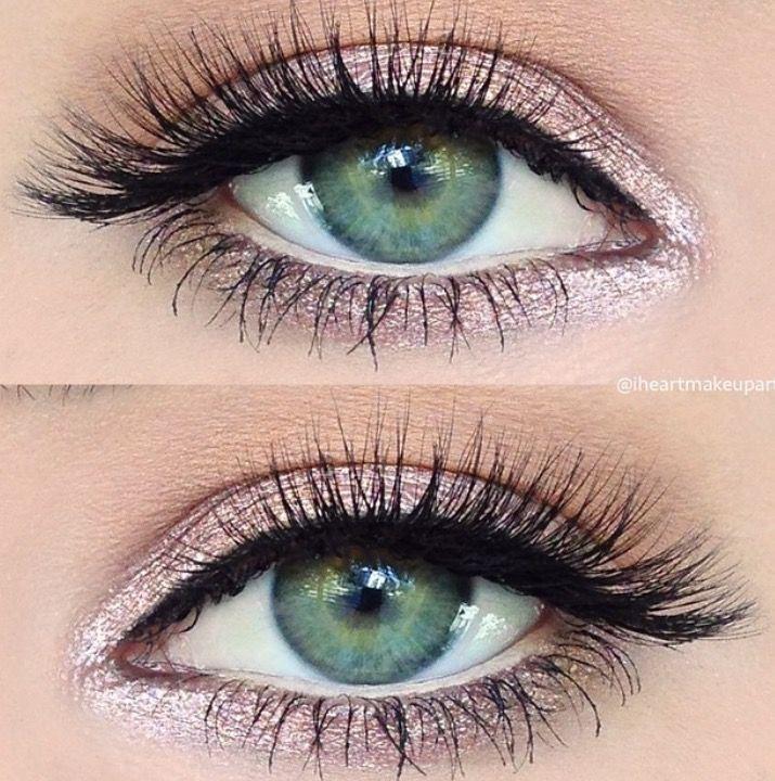 Pink Eyeshadow Makeup ArtistsSparkly Eye MakeupProm MakeupWedding MakeupGreen Eyes