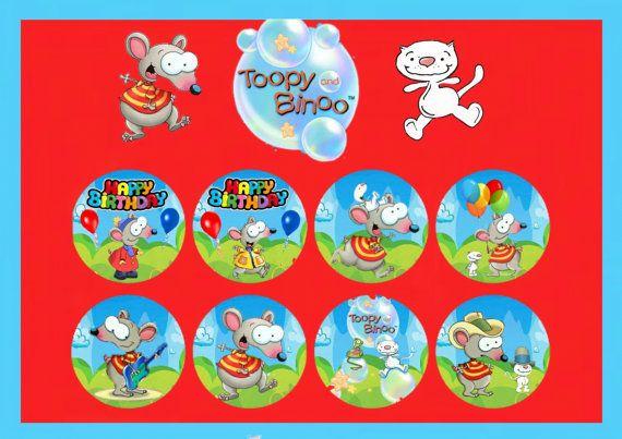 Toopy and Binoo Digital Cupcake Toppers by HandmadePartyDecor, $5.00