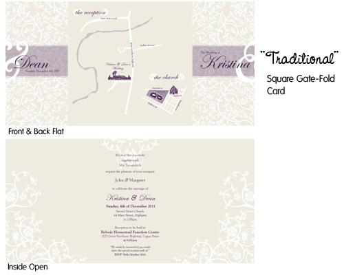 Traditional - Gate Fold Wedding Invite
