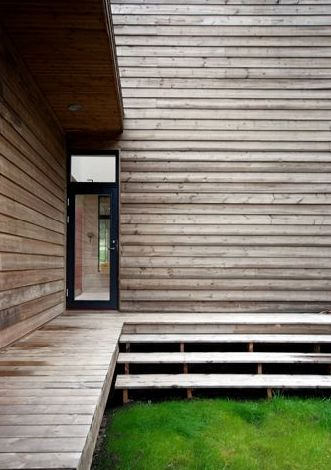 OUTDOORS: walkway and siding