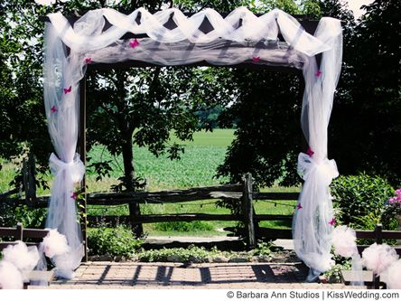 1000 Ideas About Wedding Arch Tulle On Pinterest