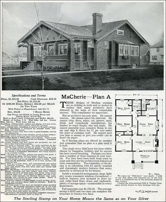 20 best 1918 1920 Mail Order Houses images on Pinterest Bungalow