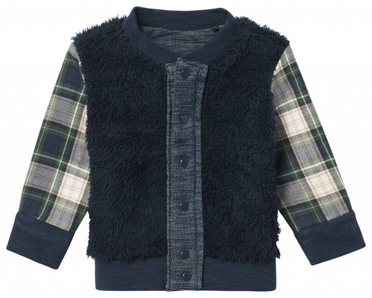 NOPPIES Noppies Bonham vest marineblauw REVERSIBLE