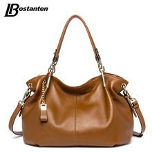 BOSTANTEN Casual Tote Women Shoulder Bags Cow Genuine Leather Women Bags Designer Brand Female Handbags Hobo Crossbody Bags Sac(China (Mainland))