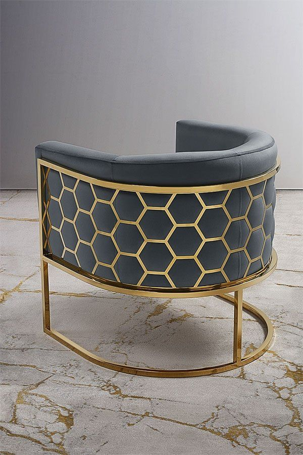 Alveare Tub Chair Brass Smoke Grey Chair My Furniture Copper