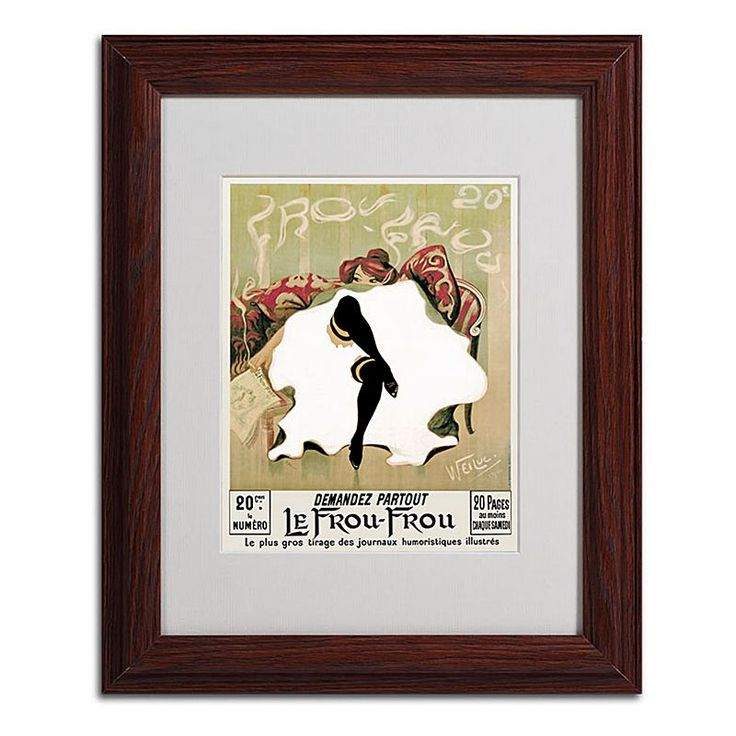 14'' x 11'' ''Le Frou Frou'' Framed Canvas Wall Art, B
