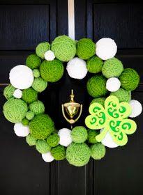 just call us Heavan.: st. patricks day yarn wreath.