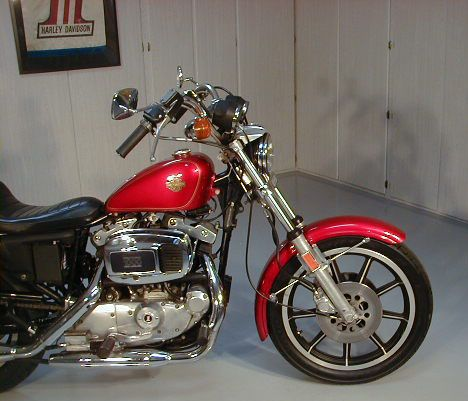 Image of 1981 Sportster Ironhead AMF Harley Davidson XLH motorcycle in original factory paint by Randy.