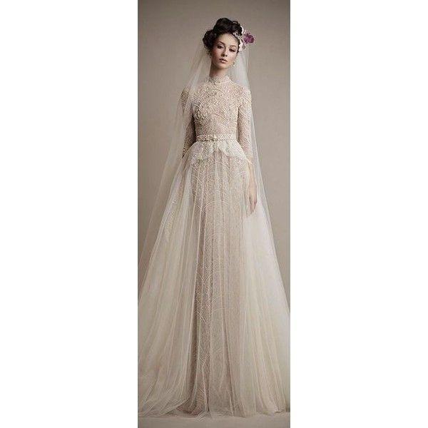 Hijab Wedding Dresses ❤ liked on Polyvore featuring dresses and wedding dresses