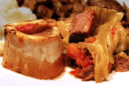 Marrow-licious! Yummm...Slow Cooker Grass Fed Beef Shanks & Cabbage Stew   Award-Winning Paleo Recipes   Nom Nom Paleo