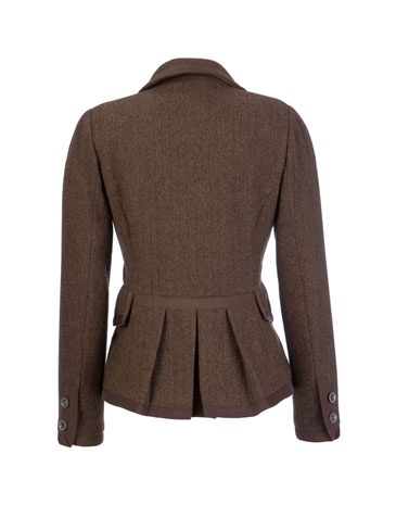 Joules tweed jacket. Peplum on back?