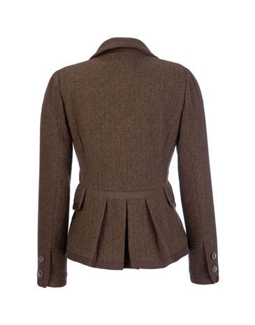 Joules tweed jacket. Peplum on back?