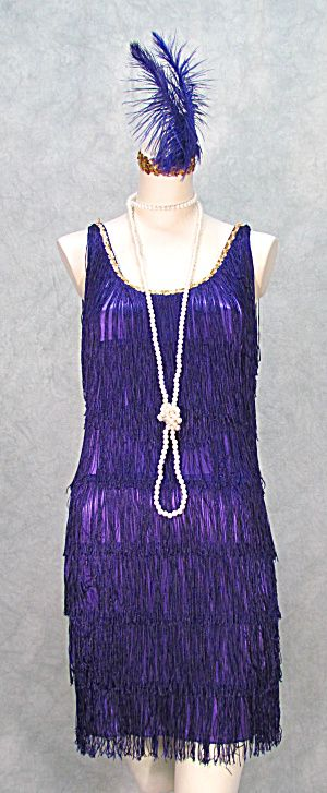 For the Great Gatsby themed homecoming! 1920s FRINGED FLAPPER DRESS GATSBY PLUS SIZES PURPLE    (Image1)
