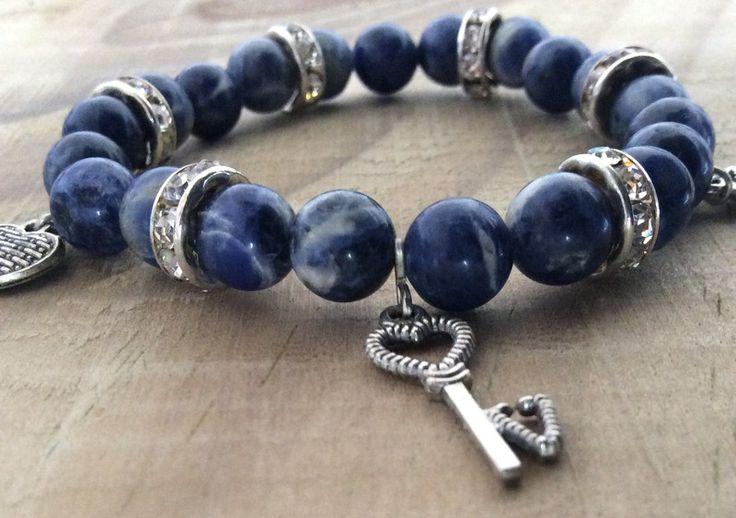 """Armbänder - Glücksarmband """"Blue natural* Stretch- Armband - ein Designerstück von FKBMartsaccesoires bei DaWanda"""