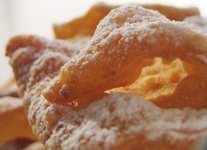 """Chiacchere"" are typical sweets of the feast of Carnival in Sicily"