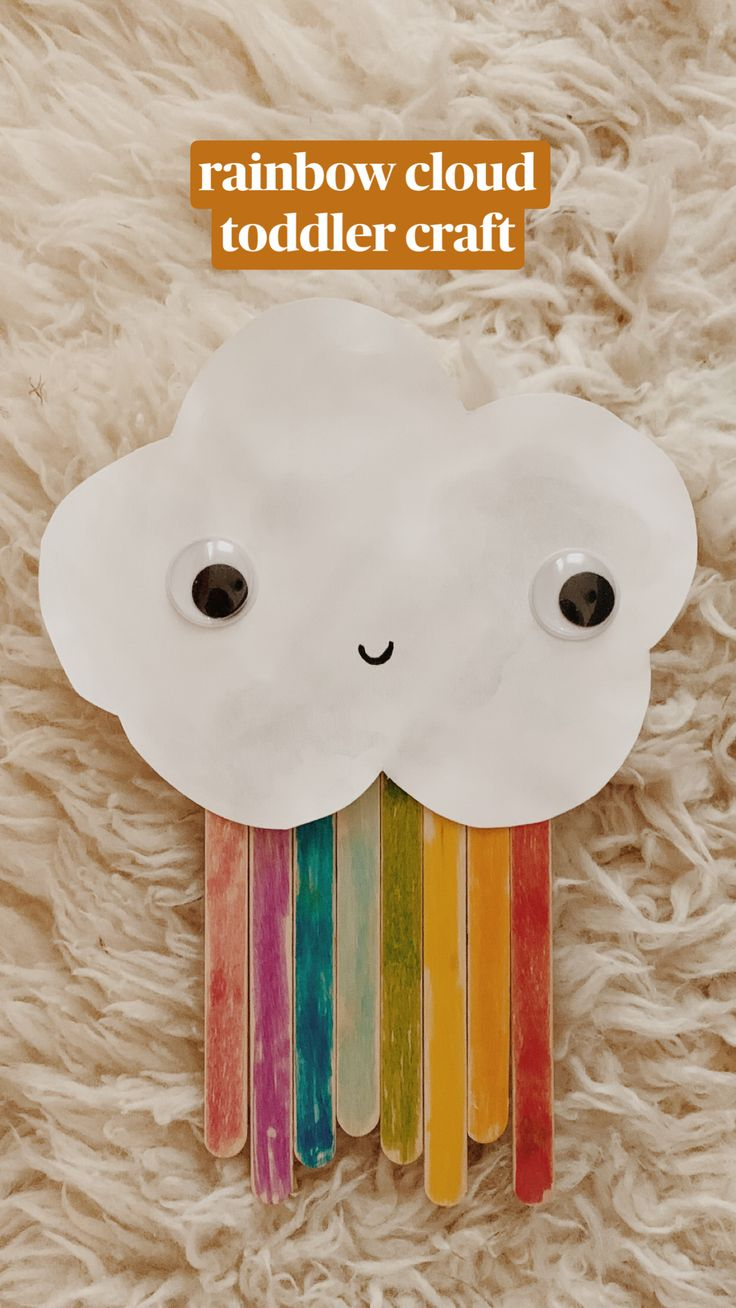 daycare crafts for toddlers rainbow cloud toddler craft Toddler Arts And Crafts, Fun Crafts For Kids, Baby Crafts, Projects For Kids, Animal Crafts Kids, Spring Crafts For Preschoolers, Crafts For Babies, Arts And Crafts For Kids Toddlers, Felt Crafts Kids