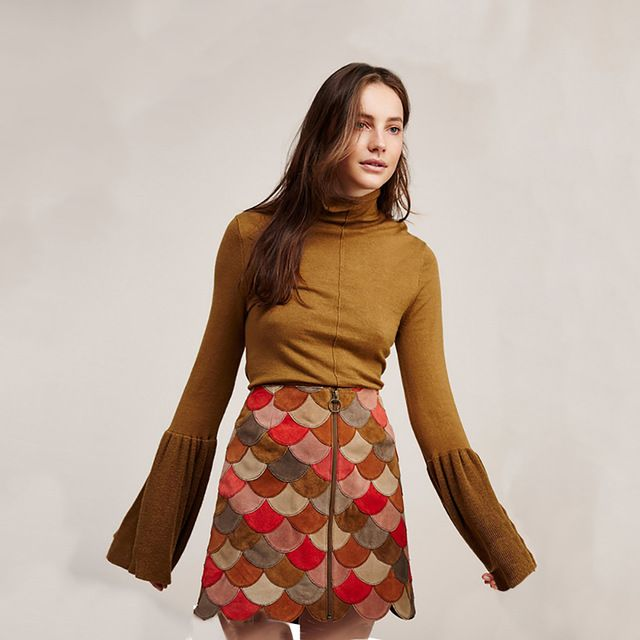 Special price HYH HAOYIHUI Solid Brown Basic Sweater Women Turtleneck Flare Sleeve Slim Pullover Female Elegant OL Spring Jumper Ladies just only $12.59 with free shipping worldwide  #womansweaters Plese click on picture to see our special price for you