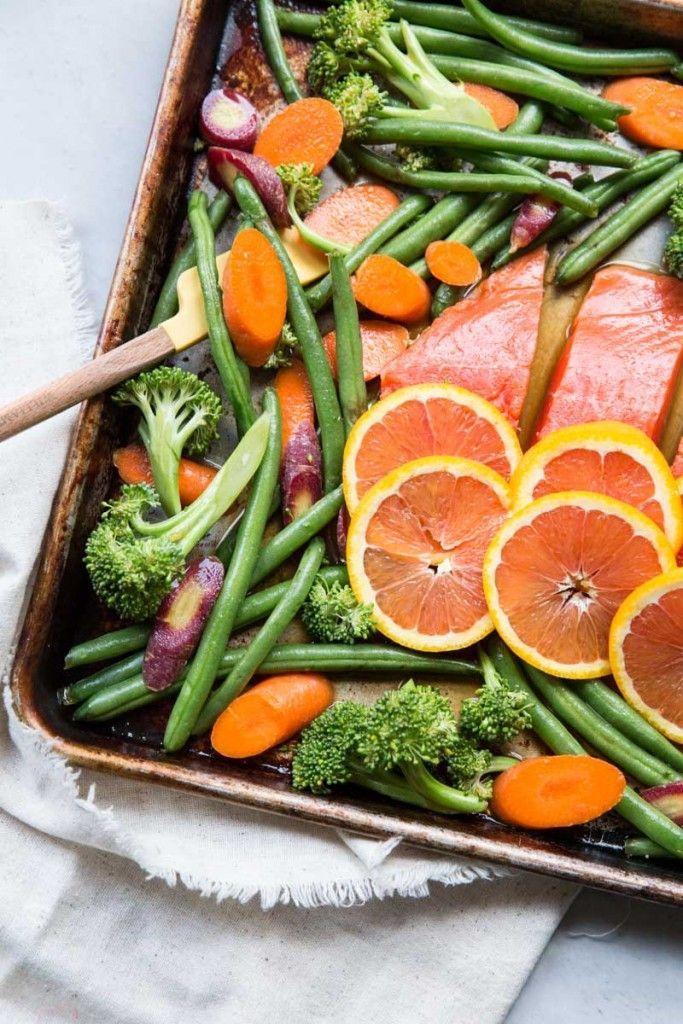 Orange Sesame Sheet Pan Salmon Recipe
