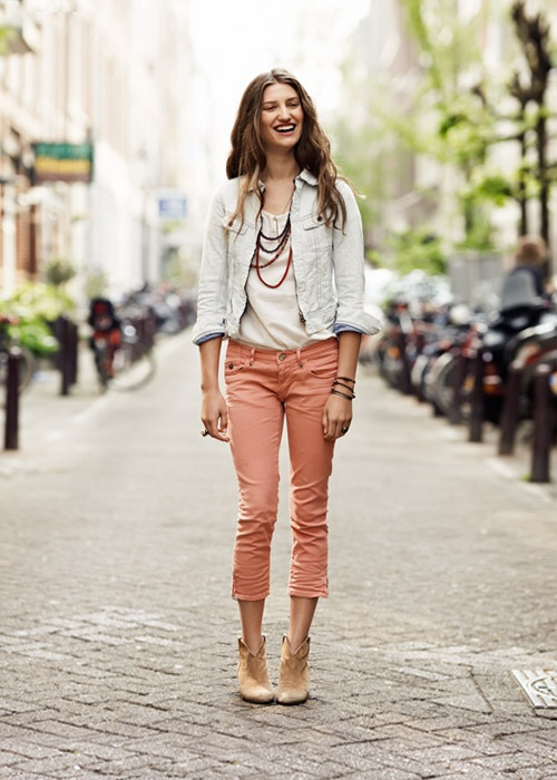 scotch and soda.  found a new clothing store.  i like some of there clothes.  This girls' shoes, capris and jacket are cool.  i just woudln't have put this outfit together or on this girl.