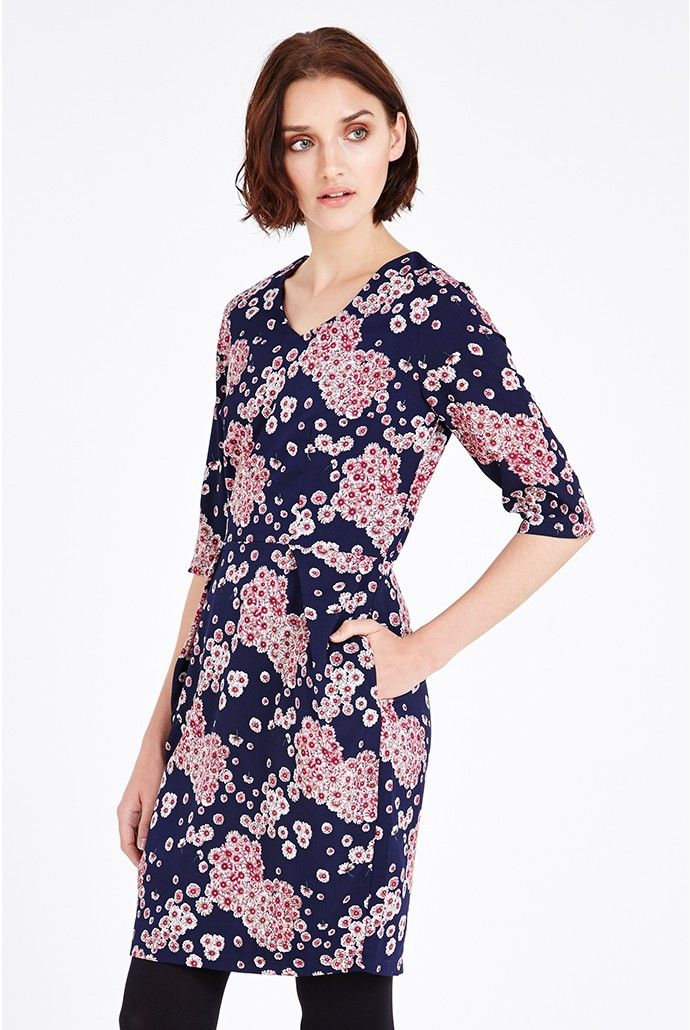 Poppy Lux Tamia Floral Cluster Dress