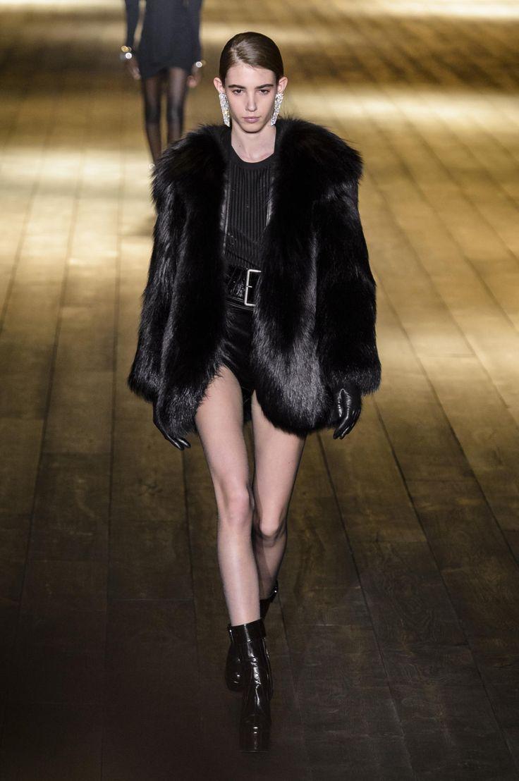 YSL black fur