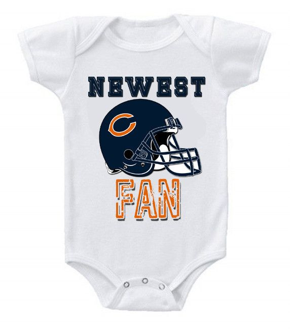 NEW Football Baby Onesie Creeper NFL Chicago Bears #3