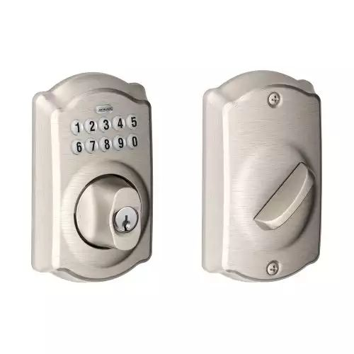 Amazon: $67.89 Schlage BE365VCAM619 Camelot Keypad Deadbolt Satin Nickel FS w/Prime or FSSS #LavaHot http://www.lavahotdeals.com/us/cheap/amazon-67-89-schlage-be365vcam619-camelot-keypad-deadbolt/197048?utm_source=pinterest&utm_medium=rss&utm_campaign=at_lavahotdealsus