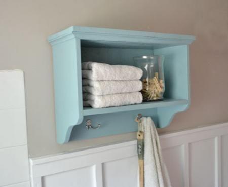 DIY bathroom shelf w/ plansGuest Bathroom, The White, Storage Shelves, Bath Wall, Wall Storage, Bathroom Storage, Bathroom Wall, Bathroom Shelf, Bathroom Shelves