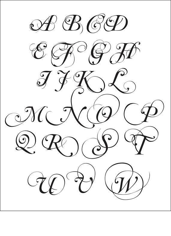 Sticker Mural De Vinyle De Linitiale De Monogramme De Votre Famille Ce Sticker Mesure Environ 16 De Large X 12 D In 2020 Lettering Alphabet Lettering Lettering Styles