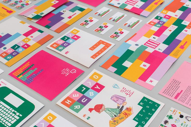 Visual identity and print by graphic design studio Kokoro & Moi for popular children's computing brand Hello Ruby. #technology #education