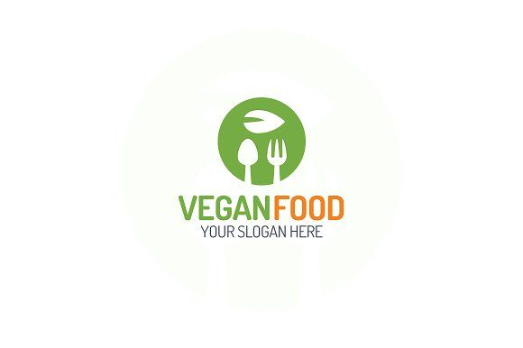 Vegan food logo by MIRARTI on @creativemarket