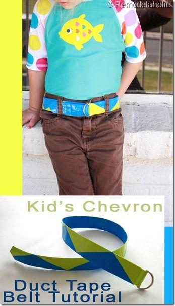 Kids duct tape belt remodelaholic.com #kids #belt #ducttape