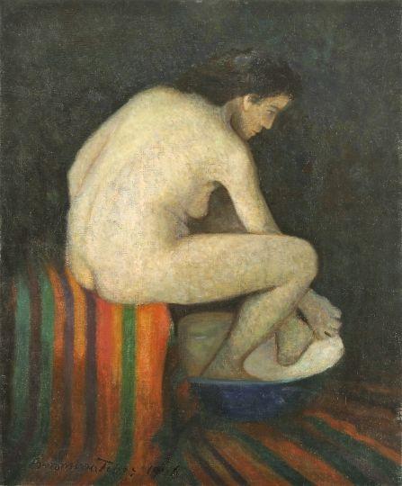 Boromisza Tibor. Furdo akt /Bathing nude