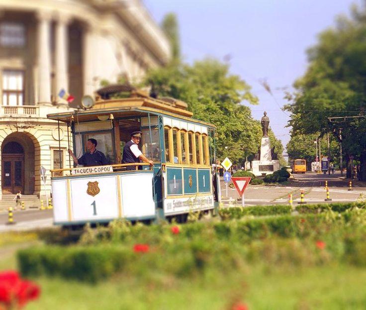 tramvai Iasi Romania streets jassy Moldova Moldavia