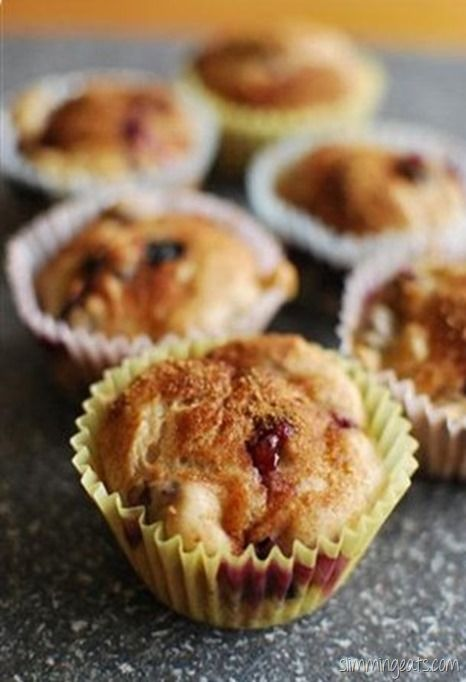 Slimming Eats Blueberry Muffins - Slimming World and Weight Watchers friendly