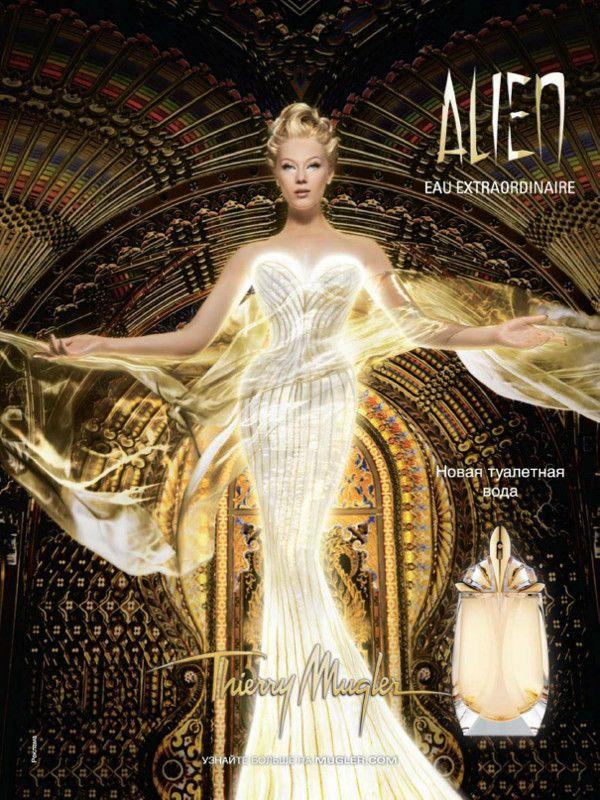 Parfum Alien Eau Extraordinaire par Thierry Mugler 2014 - Photo Floria Sigismondi -modèle Alexandrina Turcan