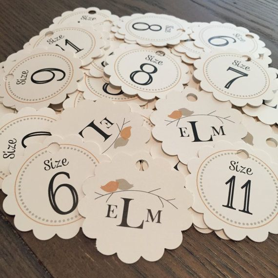 Flip Flop Size Tags for Weddings and More // by PrimroseAndPark