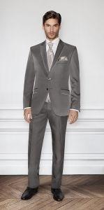 Grey wedding suit for groom