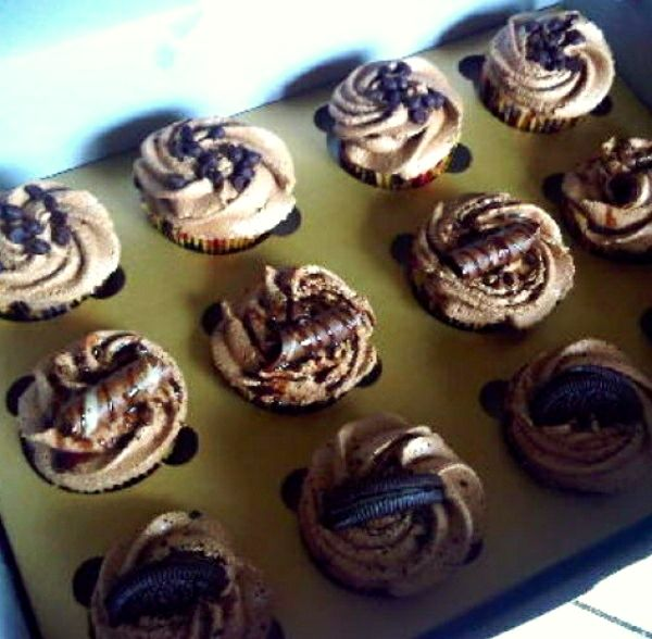 Nutella Cupcakes...with Nutella filling and Ores and Choco Topping... Yummy!!! #cooking #baking