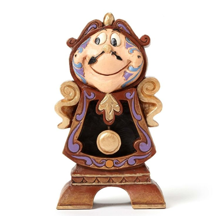 "JIM SHORE - DISNEY TRADITIONS / BEAUTY AND THE BEAST ""COGSWORTH"" / NIB"