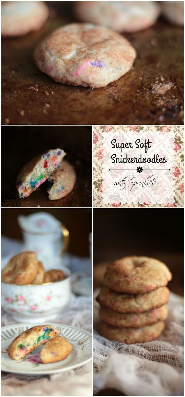 Best chewy, soft Snickerdoodle recipe ever! Sweet buttery goodness with tons of cinnamon flavor... plus sprinkles! From http://restlesschipotle.com
