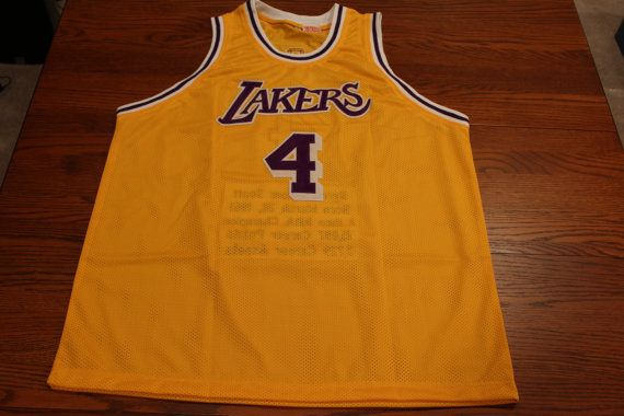 Byron Scott Autographed Lakers Career by OldSportsMemorabilia