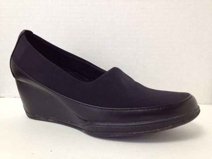 Clarks Shoes Womens Size 5 M Black Heels Loafers 5M  | eBay