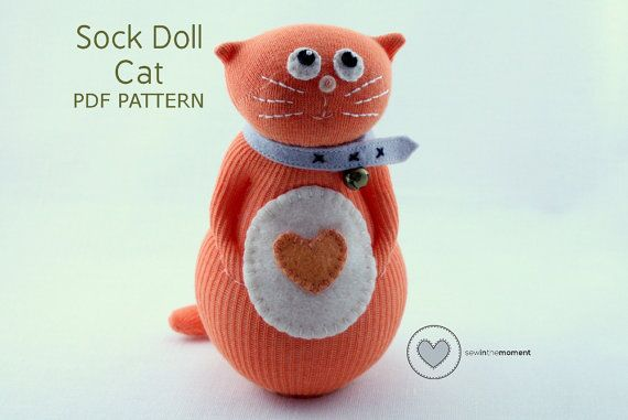 This pattern is made with easy to follow photos and instructions for each step. It has been written by an experienced sock doll creator, with all