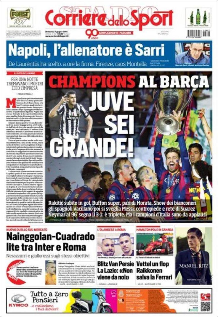 Portada de Corriere dello Sport (Italia) Periodismo