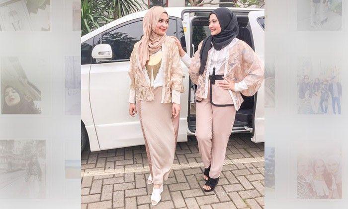 Serunya Gaya Hijab Fashion Kembaran Shireen Dan Zaskia Sungkar