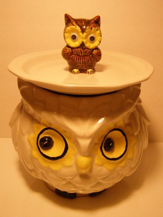 1960's owl cookie jar!