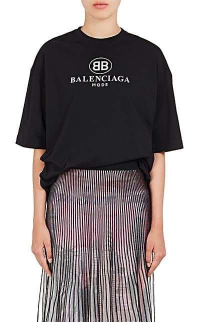 cbf43376707c8 We Adore  The Logo-Print Cotton T-Shirt from Balenciaga at Barneys New York