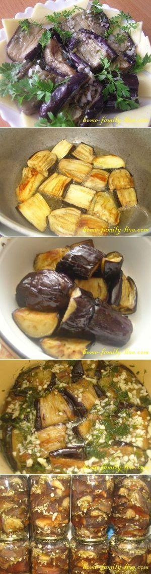 Баклажаны с чесноком - пошаговый рецепт с фотоКулинарные рецепты
