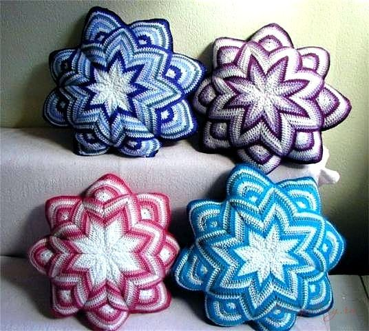 Almofada Estrela de Crochê | Belas em ação | Belas em ação